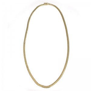 MIAMI CUBAN CHAIN 10K YG 5mm,62cm 【SOLID】