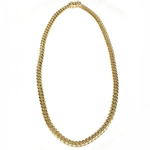 MIAMI CUBAN CHAIN 14K YG 8.1mm,61cm 【SOLID】