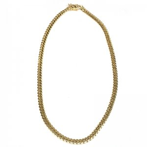 MIAMI CUBAN CHAIN 14K YG 7mm,56cm 【SOLID】