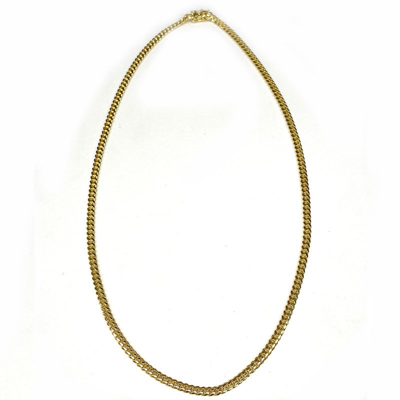 MIAMI CUBAN CHAIN 10K YG 4mm,50cm 【SOLID】