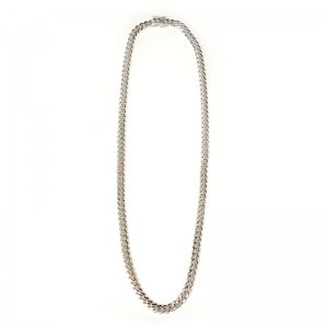 MIAMI CUBAN CHAIN 10K WG 6mm,50cm 【SOLID】