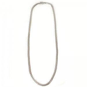 MIAMI CUBAN CHAIN 10K WG 6mm,60cm 【SOLID】