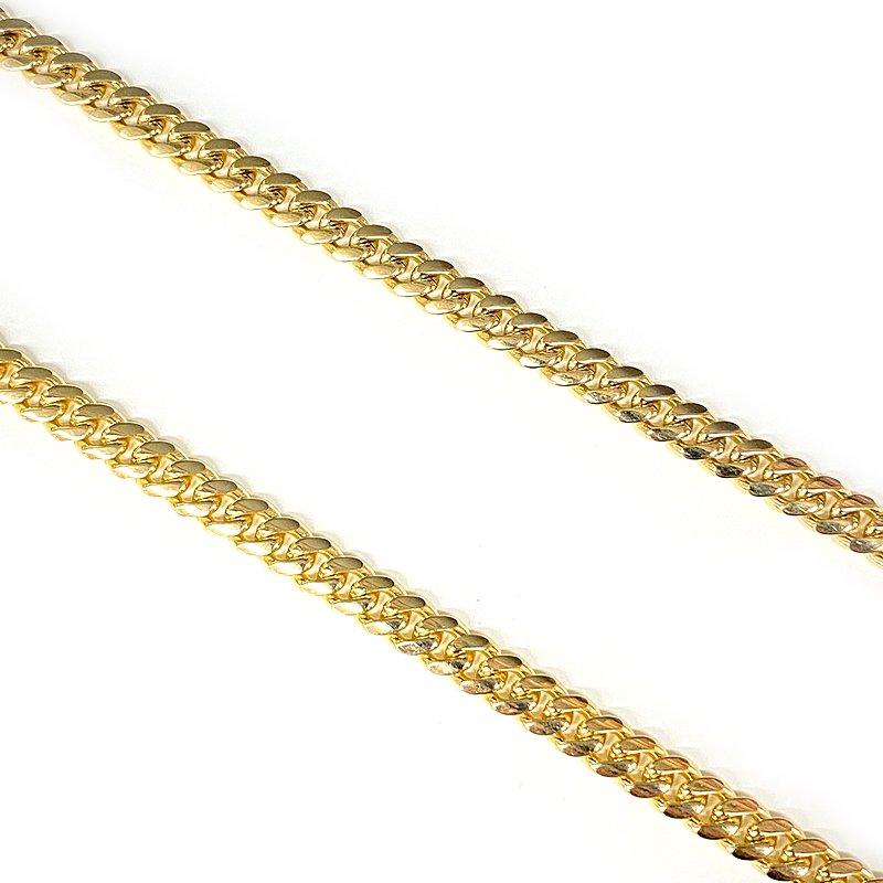 MIAMI CUBAN CHAIN 10K Yellow Gold 5.5mm  50cm/60cm  【SOLID】