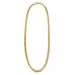 MIAMI CUBAN CHAIN 10K Yellow Gold 6.5mm  50cm/55cm/60cm  【SOLID】