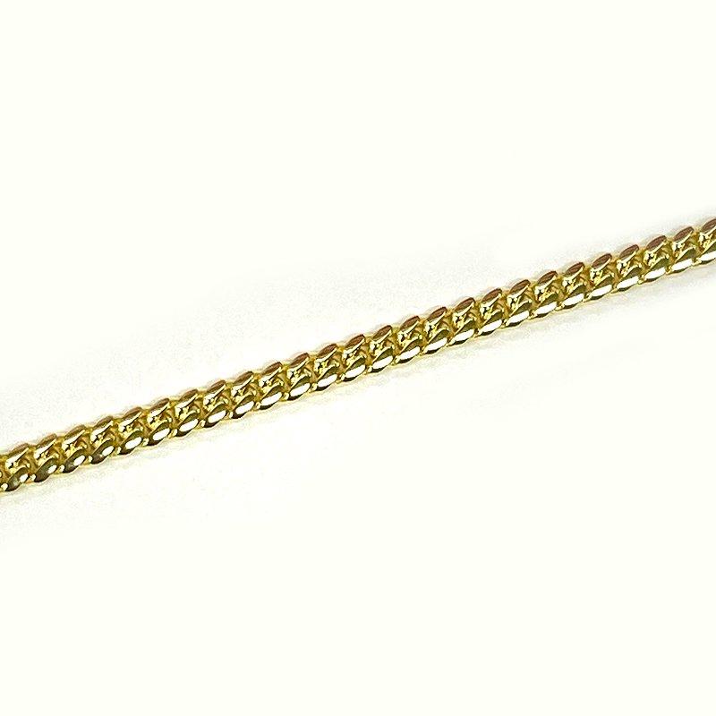 MIAMI CUBAN CHAIN BRACELET 10K YG 2.5mm 20cm