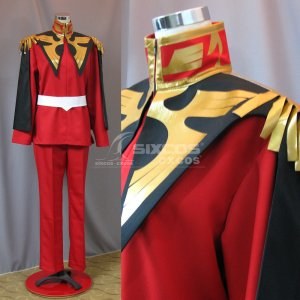 機動戦士ガンダム シャア・アズナブル 風 コスプレ衣装 Mobile Suit Gundam-Char Aznable Cosplay Costume