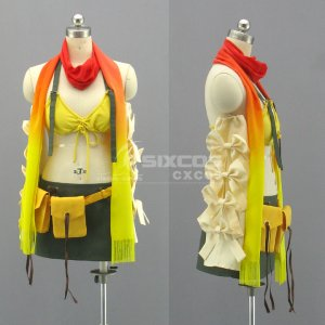 ファイナルファンタジー X-2 FFX-2 リュック 風 コスプレ衣装 Final Fantasy X-2-Rikku Cosplay Costume