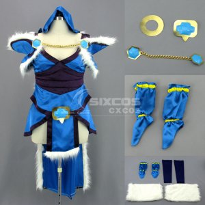 Dota 2 Crystal Maiden 風 コスプレ衣装 Crystal Maiden Anime Game Cosplay Costume