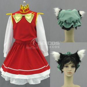 東方Project 東方妖々夢 橙 風 コスプレ衣装 Touhou Project-Perfect Cherry Blossom-Chen Cosplay Costume