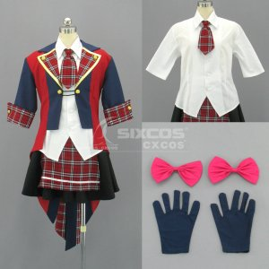 AKB48 風 女性 コスプレ衣装 制服 Female Uniform School Cosplay Costume