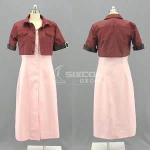 ファイナルファンタジー VII Final Fantasy 7 エアリス 風 コスプレ衣装 Advent Children-Aerith Gainsborough Cosplay Costume