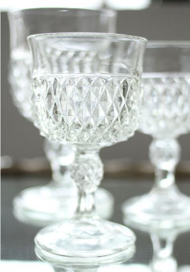 インディアナグラス ダイヤモンドポイント ワイングラス