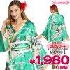 1101E<即納!特価!在庫限り!> TOKYO WISH 着物ドレス FlowerPrincessEmeraldGreen M サイズ:レディース