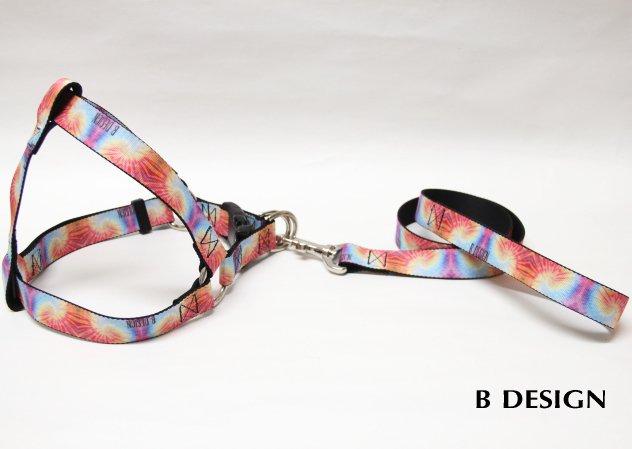Tie-dye ハーネス・リードセット