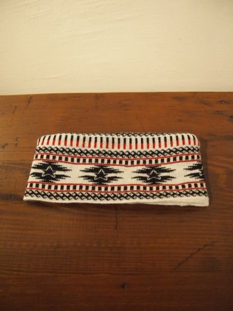 M エム / original native pattern head band tricolore