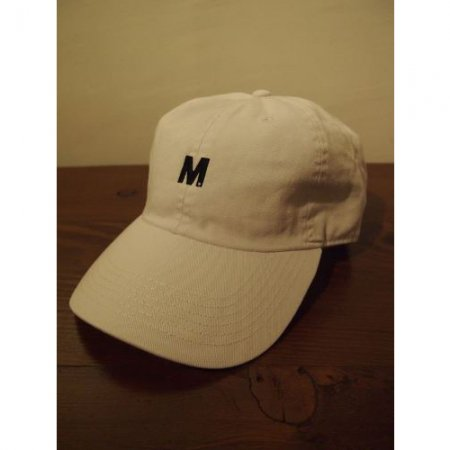 M エム キャップ / used wash one point 6panel cap white