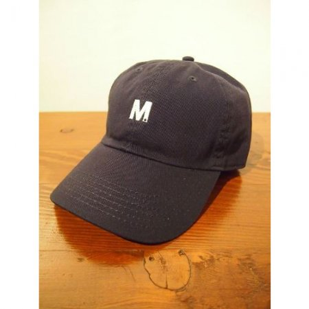 M エム キャップ / used wash one point 6panel cap navy