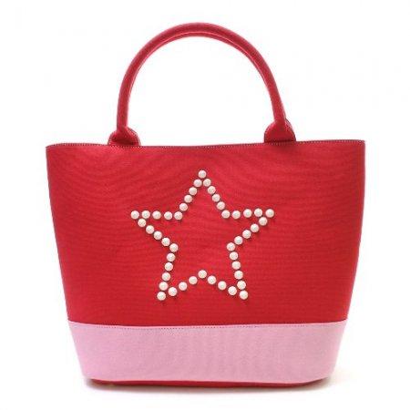 StarLean★ スターリアン / スタースタッズキャンパストートバッグ RED