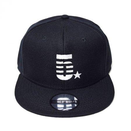 【即納】MADE IN WORLD☆ メイドインワールド キャップ / snap back cap (5☆) black