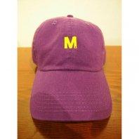 【先行予約5月8日(月)13時まで】【入荷6月上旬予定】M エム / used wash one point 6panel  purple×yellow