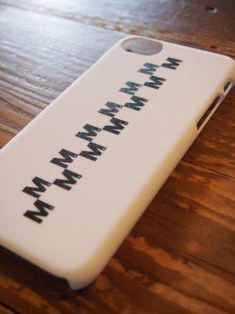 【先行予約5月8日(月)13時まで】【入荷6月上旬予定】M エム / iPhone7 cover (M checker)  white