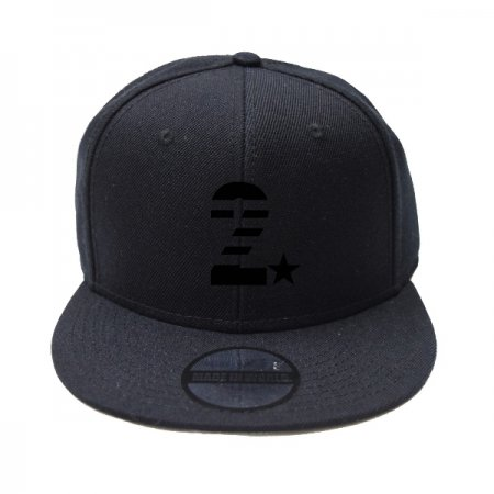 【即納】MADE IN WORLD☆&CO メイドインワールドアンドシーオー キャップ / snap back cap (2☆) black x black