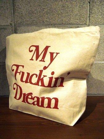 【予約】【入荷12月下旬予定】M エム トートバッグ  / tote bag (My Fuckin' Dream / 17AW) white