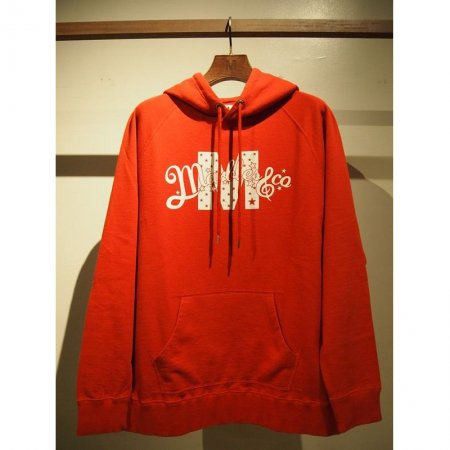【予約】【入荷1月下旬予定】 M エム パーカー / washed pullover parka (M x Marbles) red