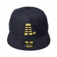 【即納】MADE IN WORLD☆&CO メイドインワールドアンドシーオー キャップ / snap back cap (A☆) black × gold