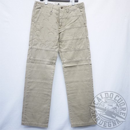M エム / star trousers (coast)-B  beige