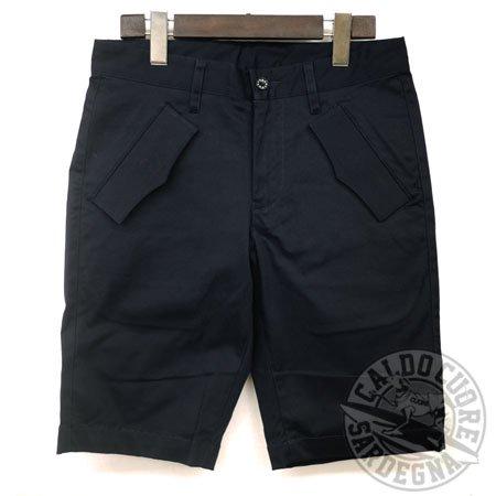 FOUR HAND フォーハンド / flap pocket short pants navy