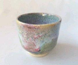 三池焼窯元 緑の窯変ぐいのみ(緑釉窯変ぐいのみ)【還暦や退職などのプレゼントに最適の九州熊本の手作り陶器です】