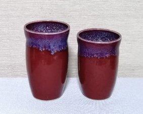 還暦祝 赤いフリーカップ流れ模様セット 送料無料