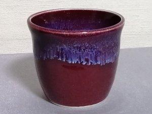 三池焼窯元の赤いそばチョコ(辰砂釉そばチョコ中赤)【還暦や退職などのプレゼントに最適の九州熊本の手作り陶器です】