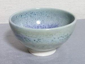 三池焼窯元◆緑のご飯茶碗中白小『銅緑釉飯碗中白小』【誕生日や退職などの贈り物に最適な九州熊本の手作り陶器】