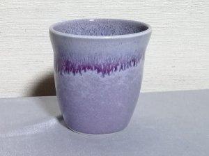 三池焼窯元 ラベンダー色の焼酎カップ中白220�(均窯釉焼酎カップ中白220�)【還暦祝いや退職祝いなどのプレゼントに最適の九州熊本の手作り陶器です】