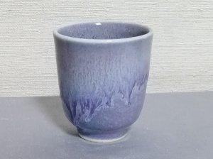 三池焼窯元・ラベンダー色の筒型湯のみ小(均窯釉筒型湯のみ小)【プレゼントに最適の九州熊本の手作り陶器です】