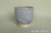三池焼窯元◆ピンク(薄紫)のカップ『均窯(鈞窯)フリーカップ』【誕生日などの贈り物に最適な手作り陶器】