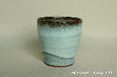 三池焼窯元◆白いカップ『ワラ灰釉 フリーカップ』【誕生日などの贈り物に最適な九州熊本の手作り陶器】