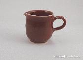 三池焼窯元の赤いマグカップ(辰砂片口マグカップ)【還暦や退職などのプレゼントに最適の熊本の手作り陶器】