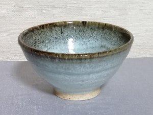 三池焼窯元◆白いご飯茶碗『白釉フチ鉄飯碗(小)』【誕生日などの贈り物に最適な九州熊本の手作り陶器】