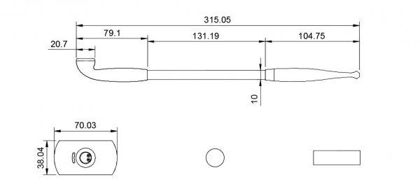 電子煙管 本体仕様寸法