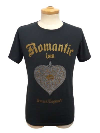【予約商品】Smack Engineer HEART BEADS TEE BLACK×GOLD