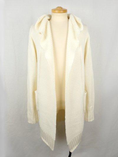 POTENZA Long Knit Cardigan White