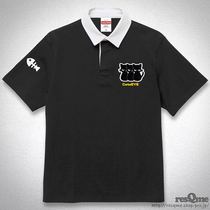 <img class='new_mark_img1' src='//img.shop-pro.jp/img/new/icons55.gif' style='border:none;display:inline;margin:0px;padding:0px;width:auto;' />[刺繍] CatsEYE RugbyShirt (Black)