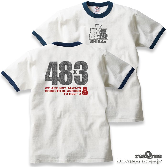 48×3 トリムTEE (Natural / Denim)