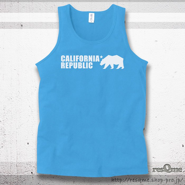 <img class='new_mark_img1' src='//img.shop-pro.jp/img/new/icons1.gif' style='border:none;display:inline;margin:0px;padding:0px;width:auto;' />Grizzly California Republic Tanktop (AirBlue)