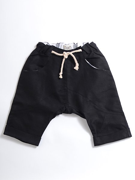 <img class='new_mark_img1' src='https://img.shop-pro.jp/img/new/icons8.gif' style='border:none;display:inline;margin:0px;padding:0px;width:auto;' />Popelin ポペリン  Black Bermuda shorts クロップドパンツ