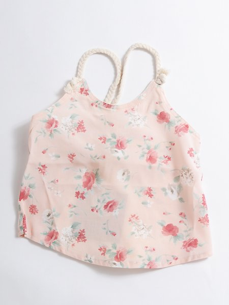 <img class='new_mark_img1' src='//img.shop-pro.jp/img/new/icons8.gif' style='border:none;display:inline;margin:0px;padding:0px;width:auto;' />Popelin ポペリン  Floral blouse with straps ブラウス