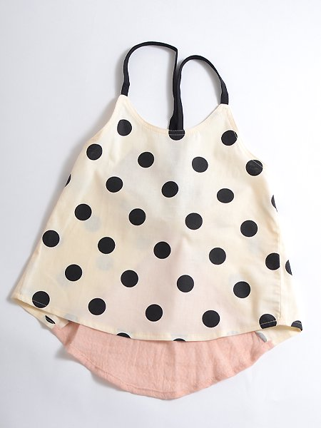 <img class='new_mark_img1' src='https://img.shop-pro.jp/img/new/icons8.gif' style='border:none;display:inline;margin:0px;padding:0px;width:auto;' />Popelin ポペリン  Polka dot blouse with straps ブラウス